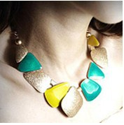 City Girl Min Order 15$ Free Shipping Newest Fashion Style VIVI Colorful Geometry Shell Pendant Necklace CG0104