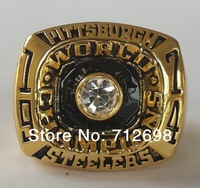 1974 PITTSBURGH STEELERS super bowl ring championship ring Replica size 11 size  Free shipping Fans Gift + New Year Gift