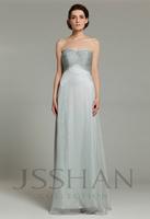 12B015 Strapless Sweetheart Empire A-Line Chiffon Luxury Unique Wedding Party Bridesmaid Dress Bridesmaid Prom Dress