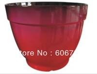 Wholesales 12.5inch red color garden planters/ biodegradable flower pots/ECO pots/   MOQ 500pcs
