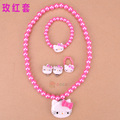 Hello kitty New Kids Necklace+rings+Bracelet+ earrings Set/Jewelry Accessories Set  for girl or women,  Fashion  (ss-5030)