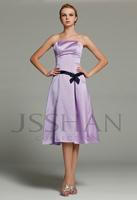 12B017 Strapless Waistband Sleeveless Matte Satin Gorgeous Luxury Unique Party Dresses Bridesmaid Dress