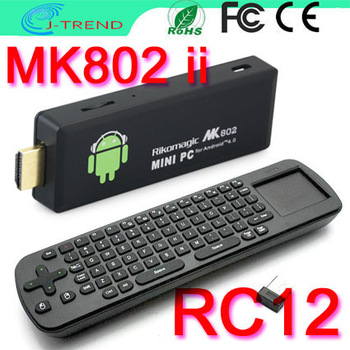 DHL Shipping MK802 II Mini PC Android4.0 WIFI Google Smart TV Box+Air Fly Mouse Keyboard RC12