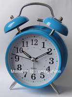 "4""metal twin bell alarm clock"