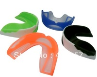 Wholesale Double Color Boxing Sporting Mouth Guard High Quality Safe POE Material for Teeth Protection Boxing Gum Shield Gear