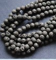 Lava Stone Bead,Black Color Round Shape 200pcs Size:10mm Nature Volcano Gemstone Beads And Loose Strands New 2012,Free Shipping!