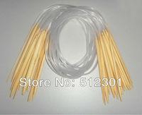 "New 2014 Free shipping 18 Sizes 32"" 80cm Circular Bamboo Knitting Needles 2.0-10mm"