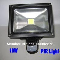 2PCS 10W LED floodlight 900LM 110-240V LED PIR sensor Flood lights COB led CE & RoHS free shipping