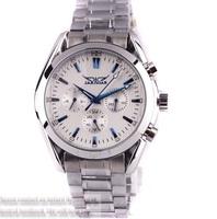 Elegant ! 6 Hands Automatic Swiss style Mechanic wrist watches men/ Sapphire blue needle+Multifunction