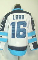 #16 Andrew Ladd Men's Authentic Road White Hockey Jersey