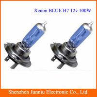 Free Shipping 2 X H7 Xenon Halogen Bulb Car Headlights Car Super Bright Light Bulbs Lamp 12V 100W