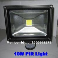 PIR 10W led flood light,flood light led Security Black shell,led motion sensor floodlight