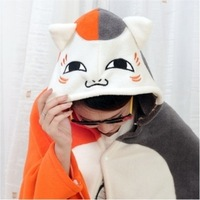 Cat cape cartoon cloak coral fleece thickening air conditioning blanket cloak lounged blanket