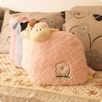 Plush gift pillow cushion pink rose sheep sofa stereo pillow quality super soft 4