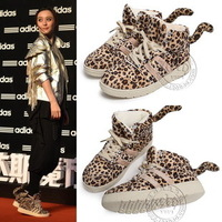 Star hot-selling trend vintage platform shoes velvet high-top shoes leopard print vintage sports lacing shoes