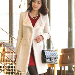 Free Shipping Woolen outerwear female medium-long winter outerwear 2013 wool coat cashmere overcoat dress clothing(China (Mainland))