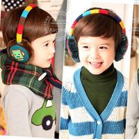 Wholesale 2012 Winter New Arrival Smiley Cartoon Plush Children Earmuffs Baby Winter Ear warmer