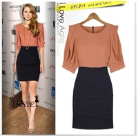 2014 autumn and winter Fashion Dress with Free Shipping