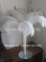 "FREE SHIPPING Wholesale 100pcs/lot 12-14"" WHITE Ostrich Plumes,Wedding Centerpieces,Table Centerpieces"