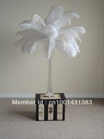 "FREE SHIPPING Wholesale 100pcs/lot 12-14""WHITE Ostrich Plumes,Wedding Centerpieces"