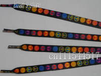 FREE SHIPPING Black circle Printing  boy's shoelace kids lovely gift
