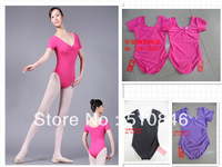 Free shopping/ Free shipping Ballet leotard coverall adult short-sleeve dance clothes leotard soft sole shoes child Ballet Tutu