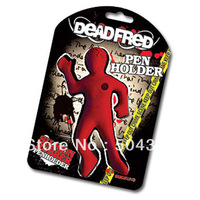 Free shipping 1piece Dead Fred Pen Holder Red Silicone Rubber Pen Pencil Holder By Suck UK