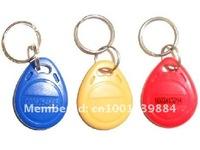 Free shipping 100pcs/Lot RFID Tag Proximity ID Token Tag Key Ring 125Khz 125KHZ RFID Card bule red yellow