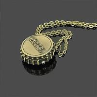Free Shipping Bottle Cap Quartz Pocket Watch Gift