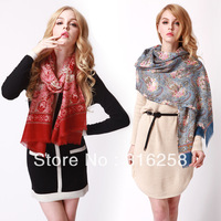 Free shipping Rglt autumn and winter pure wool thermal scarf women&#39;s elegant cape