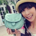 Korea Girls Handmade Musette Drum leather bag Pattern Small Shoulder bag messenger Handbag