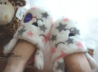 FREE SHIPPING Pentastar rabbit plush home cotton-padded slippers lovers at home shoes