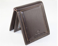 free shipping Mens real genuine Leather Wallet Pockets Card Clutch Cente Bifold Purse #D526-40 -2   bag Hand bag