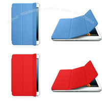 50pc/Lot for iPad Mini, Official Design Smart Cover PU Leather Case Cover,High Quality ,DHL Free&Fast Shipping