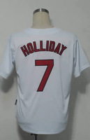 #7 Matt Holliday Men's Authentic Home White Cool Base Baseball Jersey