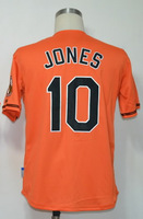 #10 Adam Jones Men's Authentic Alternate Orange Cool Base Baseball Jersey