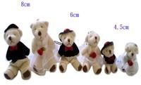 Wholesale 50pcs wedding bear Teddy bear flush baby toys. Soft Puppy Child Favor 6.5CM