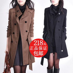 2012 spring and autumn plus size wool coat women&#39;s cashmere overcoat woolen outerwear dress clothing(China (Mainland))