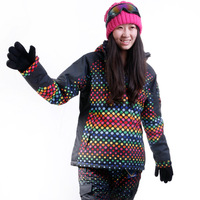 Windproof waterproof thermal Women professional monoboard snow clothing skiing clothing