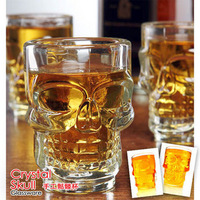 Skull turesday glass cup beer cup pirate wine cup red wine crystal skull sobers up device