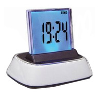 Gift large screen music colorful bell table clock quieten luminous washing machine alarm clock christmas gift