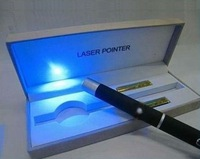 Free shipping 5pcs/lot hot sale 10mw 405nm portable single beam blue laser pointer with gift box for Christmas gift
