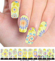 M1-024 - 10sheets/LOT FREE SHIPPING + Water decals full cover nail tips sticker for wholesale & Retails ITEM NO.12112005