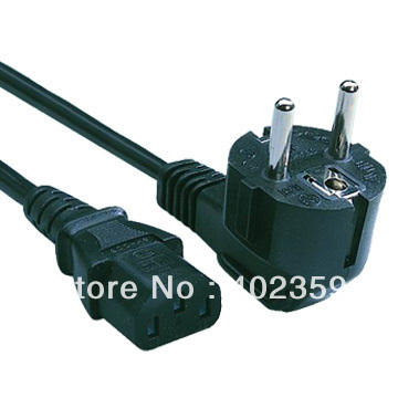 EU Plug Power Cord for desktop computer European plug power cord(China (Mainland))