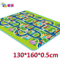 Promotion!! Baby Crawling pad child Picnic rug moisture-proof pad folding indoor mats City Traffic 130*160*0.5cm