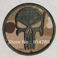 PUNISHER SKULL SEAL NAVY GUNS PAINTBALL SNIPER VELCRO PATCH MULTI CAMO -32413