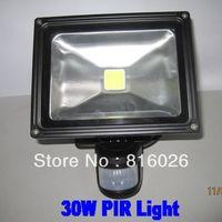 Free shipping!30W Infrared Motion Sensor LED flood light,AC110V-240V led outdoor lighting 4pcs/lot