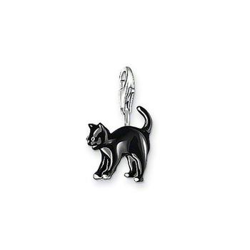 European Стиль Модный 925 silver Мини cute Черный cat pendant charm (1.4x1.2cm) fit ...