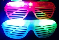 Led glasses louver window glasses flashing glasses star supplies t9