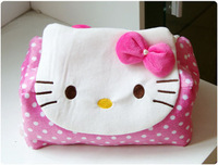Hello kitty pink dot cartoon plush car tissue box tissue cover tissue pumping paper pumping